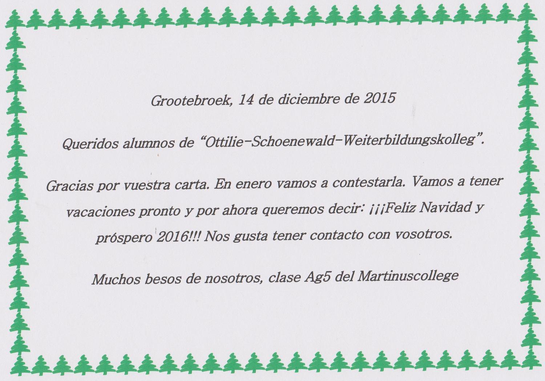Weihnachtsgrüße Auf Spanisch.Spanisch Brieffreundschaft